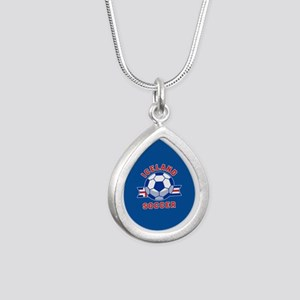 Iceland Soccer Silver Teardrop Necklace