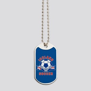 Iceland Soccer Dog Tags