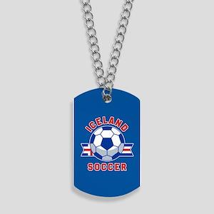 Iceland Soccer Dog Tags