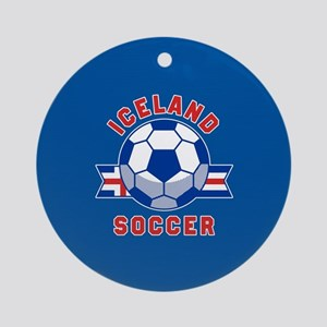 Iceland Soccer Round Ornament