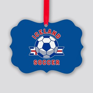 Iceland Soccer Picture Ornament