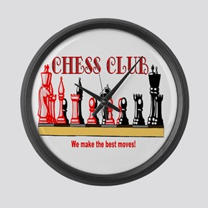 Back to School Gear Chess Clu Large Wall Clock
