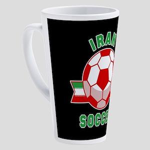 Iran Soccer 17 oz Latte Mug