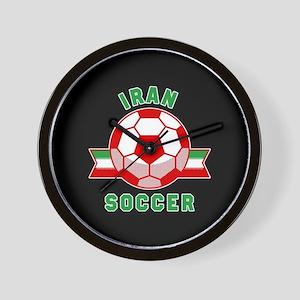 Iran Soccer Wall Clock