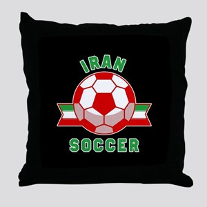 Iran Soccer Throw Pillow