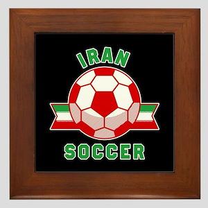 Iran Soccer Framed Tile