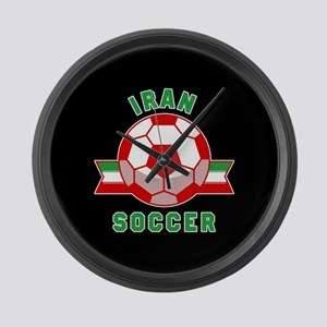 Iran Soccer Large Wall Clock