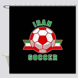 Iran Soccer Shower Curtain
