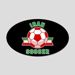 Iran Soccer 20x12 Oval Wall Decal