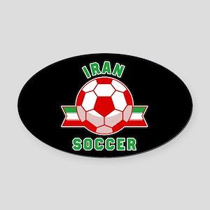 Iran Soccer Oval Car Magnet