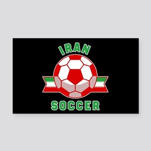 Iran Soccer Rectangle Car Magnet