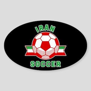 Iran Soccer Sticker (Oval)