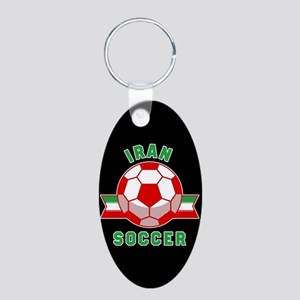 Iran Soccer Aluminum Oval Keychain