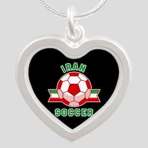 Iran Soccer Silver Heart Necklace