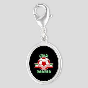 Iran Soccer Silver Oval Charm