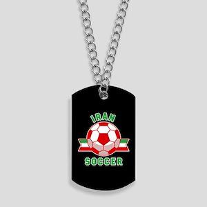Iran Soccer Dog Tags