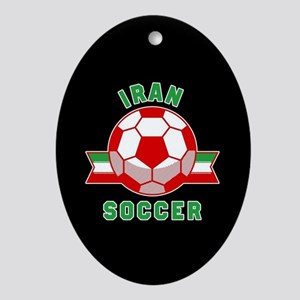 Iran Soccer Oval Ornament