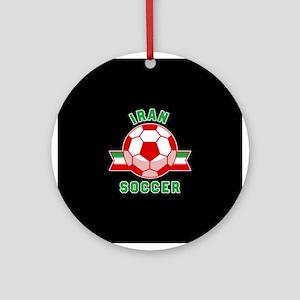 Iran Soccer Round Ornament