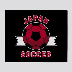 Japan Soccer Throw Blanket