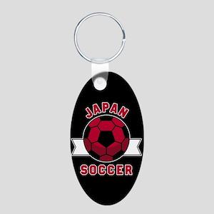 Japan Soccer Aluminum Oval Keychain