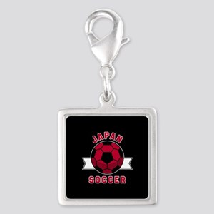 Japan Soccer Silver Square Charm