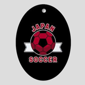 Japan Soccer Oval Ornament