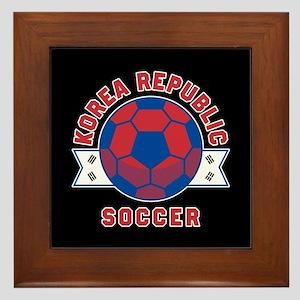Korea Republic Soccer Framed Tile