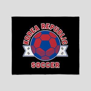 Korea Republic Soccer Throw Blanket