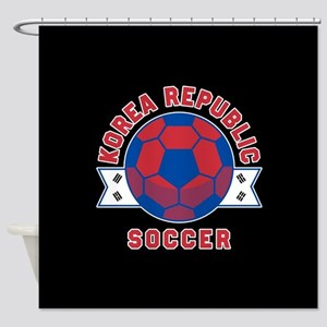 Korea Republic Soccer Shower Curtain