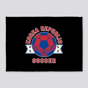 Korea Republic Soccer 5'x7'Area Rug