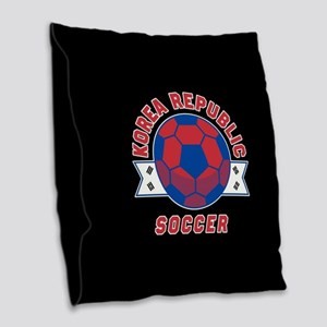 Korea Republic Soccer Burlap Throw Pillow