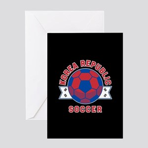 Korea Republic Soccer Greeting Card
