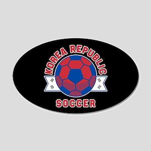 Korea Republic Soccer 20x12 Oval Wall Decal