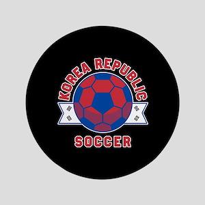"""Korea Republic Soccer 3.5"""" Button"""