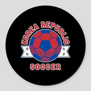 Korea Republic Soccer Round Car Magnet