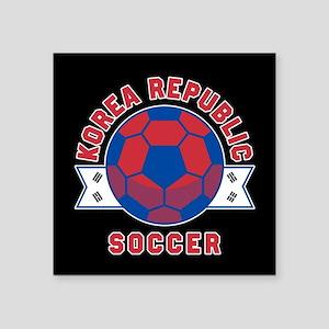 """Korea Republic Soccer Square Sticker 3"""" x 3"""""""