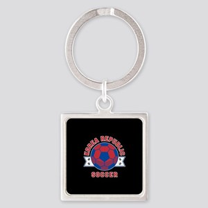 Korea Republic Soccer Square Keychain