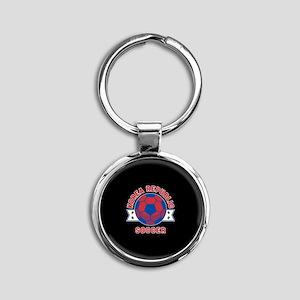 Korea Republic Soccer Round Keychain