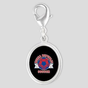 Korea Republic Soccer Silver Oval Charm