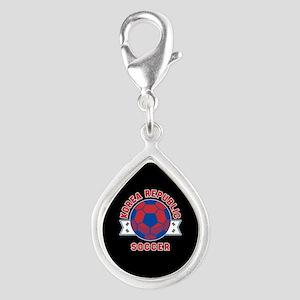 Korea Republic Soccer Silver Teardrop Charm