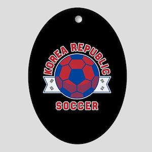 Korea Republic Soccer Oval Ornament
