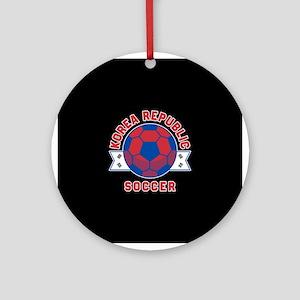 Korea Republic Soccer Round Ornament