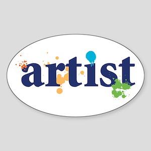 """Artist"" Oval Sticker"