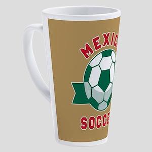 Mexico Soccer 17 oz Latte Mug