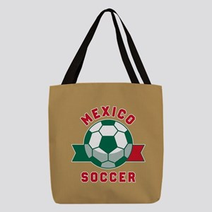 Mexico Soccer Polyester Tote Bag