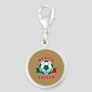 Mexico Soccer Silver Round Charm