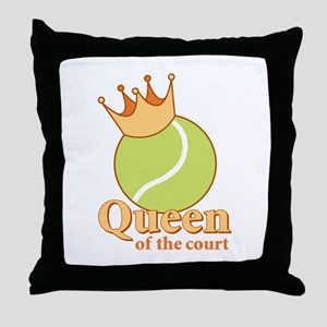 """Queen of the Court"" Throw Pillow"