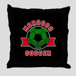 Morocco Soccer Throw Pillow