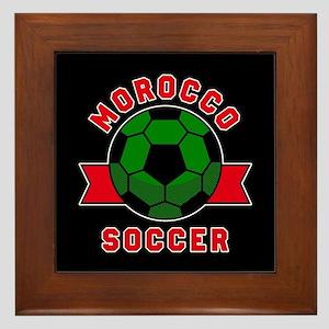 Morocco Soccer Framed Tile