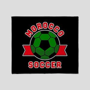 Morocco Soccer Throw Blanket